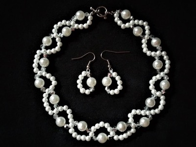 Pearl beading tutorial for beginners. 10 minutes DIY pearl necklace