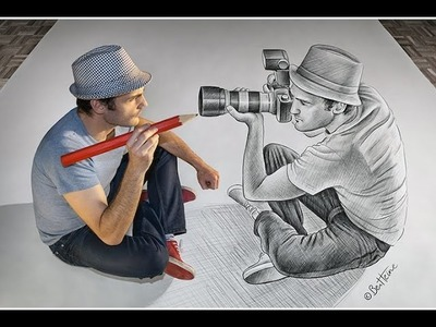 Pictures 3D Drawing On Paper