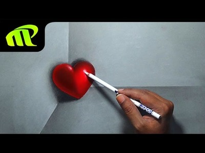 Valentine Day - 3D Heart Drawing - Valentine Day Gift   3D Drawing   Trick Art