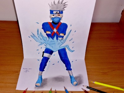 3D Art- How To Draw Kakashi Chidori
