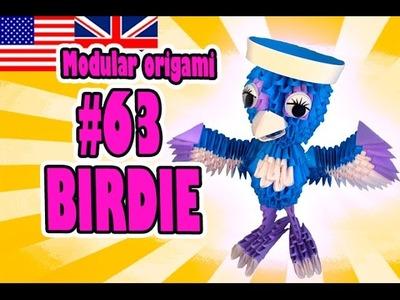 3D MODULAR ORIGAMI #63 BIRDIE