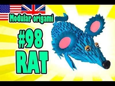 3D MODULAR ORIGAMI #98 RAT