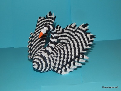 3D origami Black and White Swan 2 tutorial  Part1