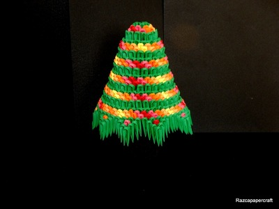 3D origami Christmas tree tutorial  part 2 (2015)