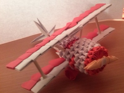 3D ORIGAMI MINI AIRPLANE TUTORIAL BY ALEX