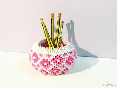 3d origami - pen holder 10