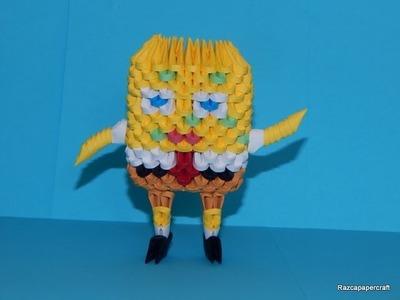 3D origami Spongebob tutorial part1