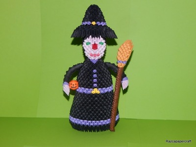3D origami Witch tutorial part1