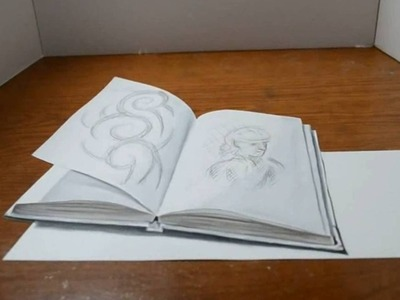 Amazing 3D Trick Art - Drawing of a Sketchbook