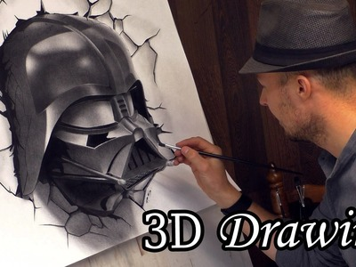 Darth Vader Busts Out in Star Wars. 3D Speed Painting #drawing dibujar desenho