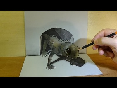 Drawing a 3D Lizard, Art in 3D