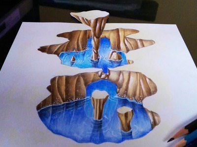 How to Draw a 3D Cavern - Optical Illusion
