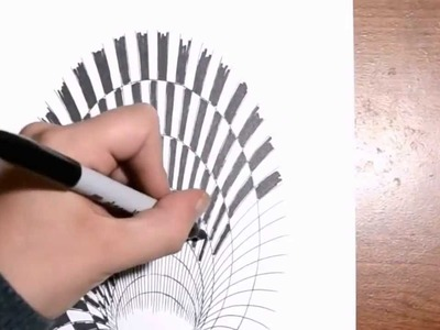 How to draw a 3d hole step by step for beginners