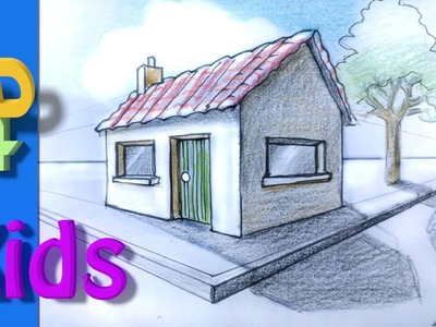 How to draw a 3D House step by step. #9