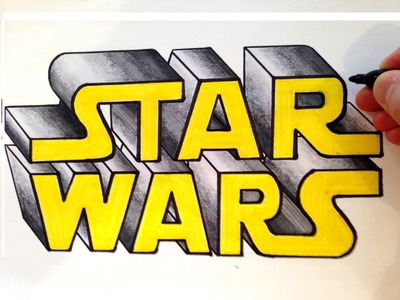 How to Draw Star Wars in 3D