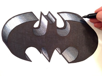 How to Draw the BATMAN Logo in 3D