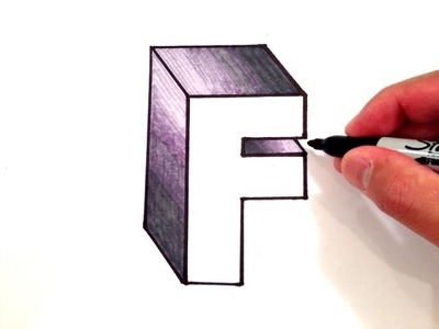 How to Draw the Letter F in 3D