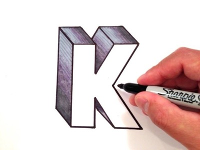 How to Draw the Letter K in 3D
