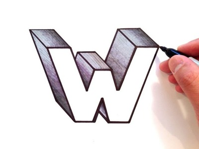 How to Draw the Letter W in 3D