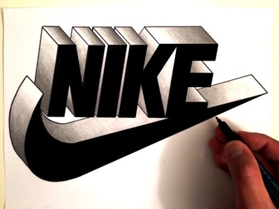 How To Draw the NIKE Logo in 3D