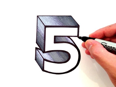 How to Draw the Number 5 in 3D