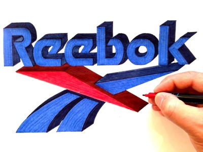 How to Draw the Reebok Logo in 3D