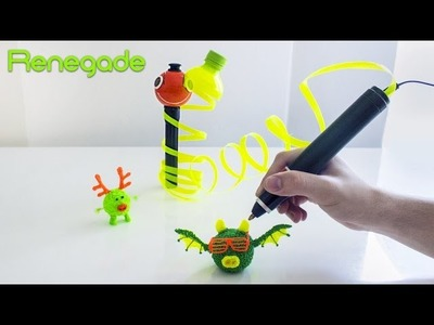 Renegade - The World's First 3D Pen to Run on Plastic Bottles