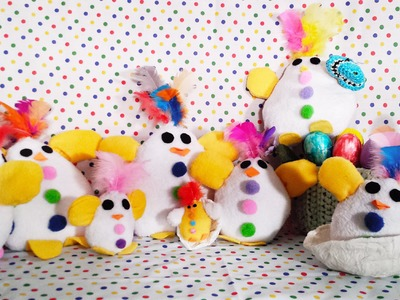 "Easter chick ""Craft project"" Very easy to make"