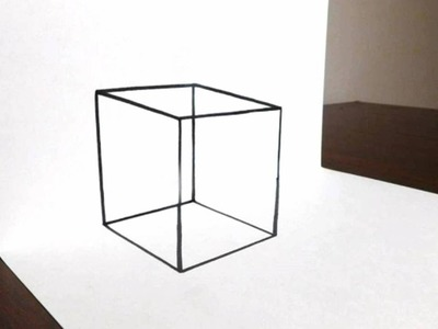 How to Draw a Transparent 3D Cube - Easy Trick Art
