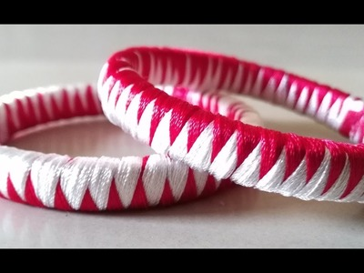 How to make ZigZag design silk thread bangles-making tutorial for beginners