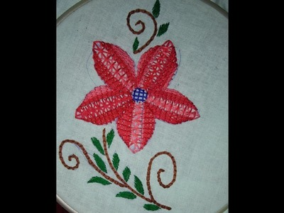 Beautiful easy hand embroidery with braid stitch
