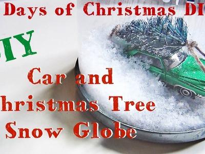 Car and Christmas Tree Snow Globe ♥ 12 Days of Christmas DIYs