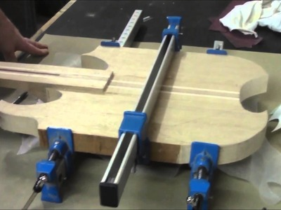 How to Build an Electric Guitar-Video 6-Body Wings pt1
