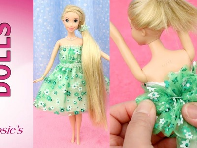 How to make dresses from Rapunzel's Fashion Show 3 -  Super Easy!