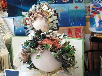 How to make Recycled Book Angels from Library Discard Books Tutorial Part 2""