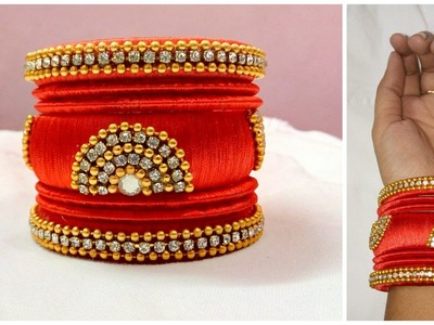 Latest silk thread bangle making at home I Easy and Simple bangles I Creative Diaries