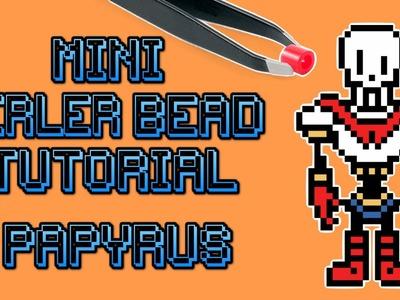 Mini Perler Bead Speed Bead DIY Tutorial - Papyrus Undertale
