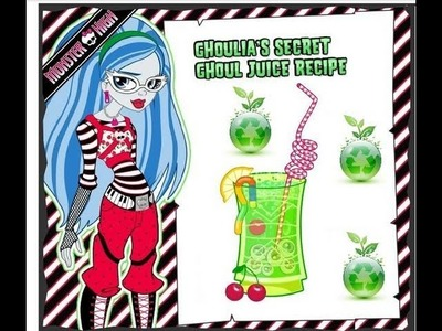 Monster High Ghoulia's Secret Ghoul Juice Recipe!!!