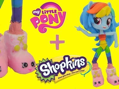 My Little Pony Equestria Girls Slumber Party Rainbow Dash Shopkins Custom