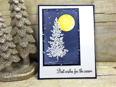 Simply Simple Winter's Night Christmas Card by Connie Stewart