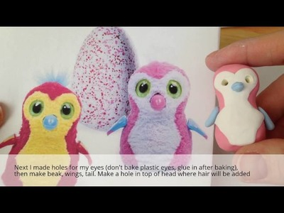 Tutorial: Make Your Own Mini Polymer Clay Hatchimals