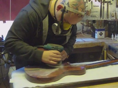 Video 14 - How to build a guitar | rubbing down the lacquer and final polishing of the guitar