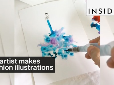 An artist uses creative techniques to make fashion illustrations