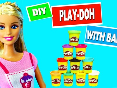 CRAFT WITH BARBIE: DIY MINIATURE Play-Doh