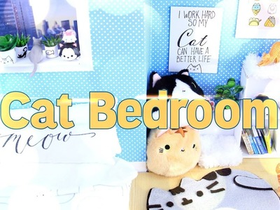 DIY - How to Make:  Dollhouse Cat Room - Handmade - Doll - Craft - 4K