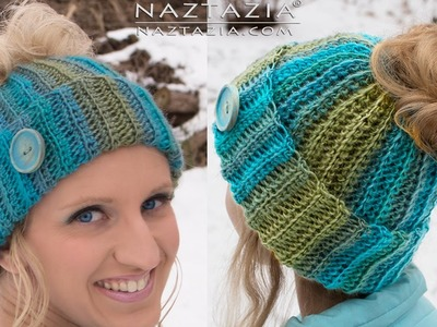 DIY Tutorial - Crochet Messy Bun Hat - Ribbed Bun Pony Tail Updo Hat with Hole on Top
