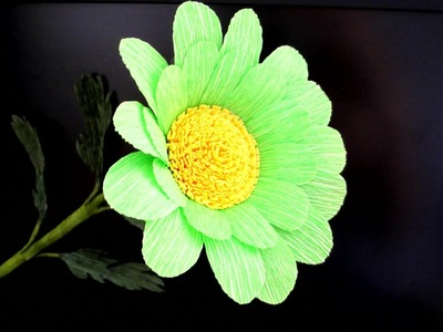 Flowers-How to make Beautiful and Cute flower from crepe paper- Craft Paper flower-DIY Idea