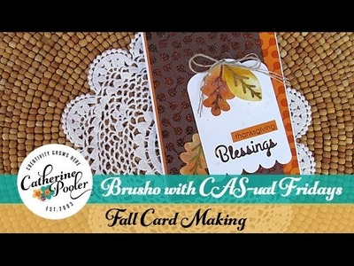 Handmade Fall Card with Brusho and CAS-ual Fridays