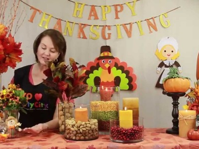 How to decorate a thanksgiving table - Cómo decorar la mesa para Acción de Gracias