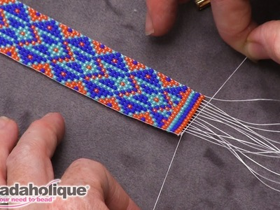 How to Finish Off Traditional Loom Work and Add a Slider Clasp